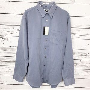 GEOFFREY BEENE blue gray soft touch shirt XXL NWT